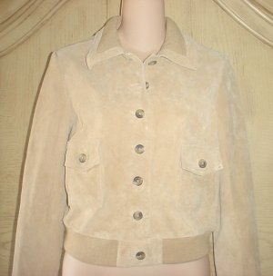 NWT ISAAC MIZRAHI  SUEDE JACKET Ladies Coat LARGE 12/14 TAN
