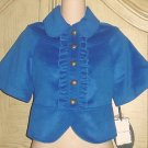 ALICE TEMPERLEY London CROPPED BLAZER Jacket LARGE Cobalt Blue
