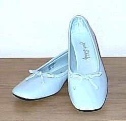 Just Libby BALLET FLATS Serena Shoes 11M LIGHT BLUE Leather