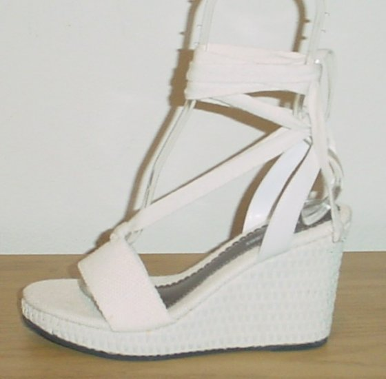new naturalizer wedge espadrilles sandals ankle tie shoes