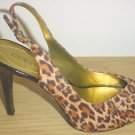 GUESS by MARCIANO PUMPS SLINGBACK HEELS 9 (39) CHEETAH PRINT SUEDE Shoes