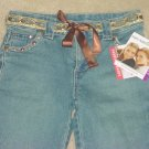 GIRLS Mary-Kate and Ashley STUDDED 5 POCKET BOOTCUT JEANS SIZE 7