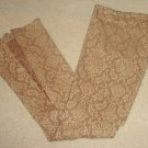 Arden b PAISLEY PANTS Split leg FLARES Slacks SIZE 2 BROWN/TAN