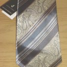 SILVER LINKS MENS TIE 100% SILK Necktie GRAY/BLUE PAISLEY