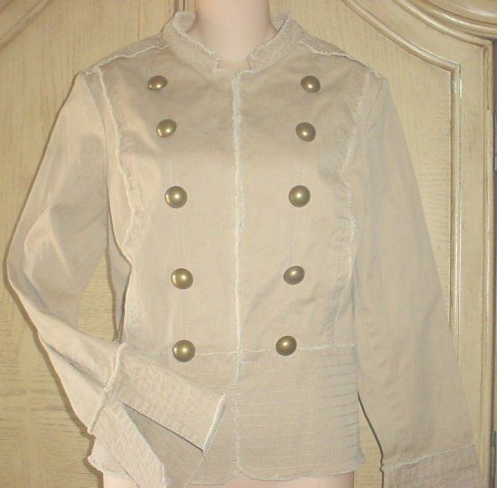 NWT OLD NAVY Misses MILITARY  JACKET BLAZER XS Khaki Tan