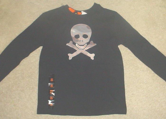 NEW Boys HALLOWEEN SKULL CROSSBONES TOP 4/5 BLACK T-Shirt