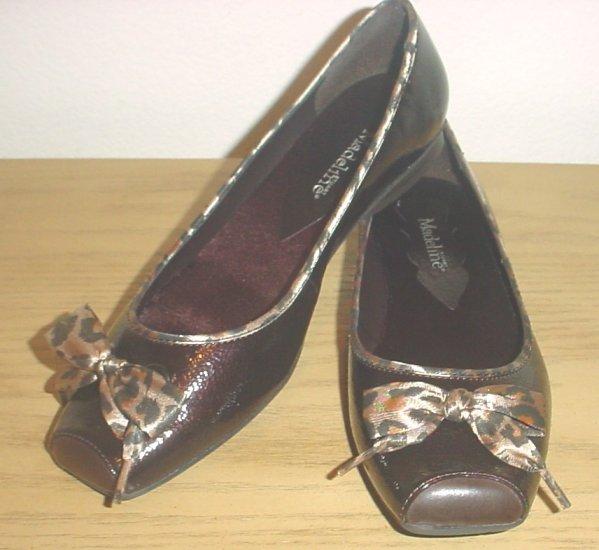 NEW Stuart Madeline BALLET FLATS Ladies Cap Toe Shoes SIZE 6.5M BROWN