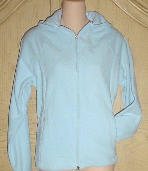 Ladies PROSPIRIT FLEECE HOODIE Athletic Jacket BLUE Size Large