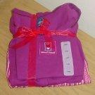 Ladies PAJAMA SET 3 PIECE Pant+Tank+Cardigan LARGE Purple