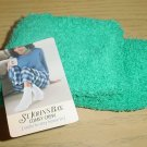 Ladies ST JOHNS BAY SLIPPER SOCKS Cozy Crew One Size JADE GREEN