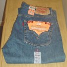 Mens LEVI&#39;S 501 JEANS Classic 5 Pocket Button Fly 36x32 MEDIUM RINSE DENIM