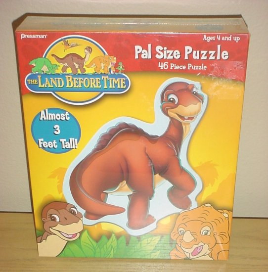 LAND BEFORE TIME 3 FOOT TALL DINOSAUR PUZZLE 46 PC