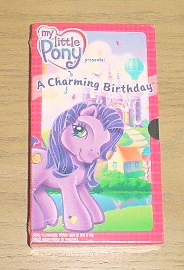 hasbro my pony a charming birthday vhs