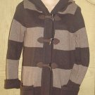 LADIES Old Navy HOODED CARDI COAT SWEATER XS BROWN