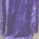 FAUX MINK FUR THROW Blanket 50x60 Reverses to Suede PURPLE