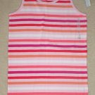 NWT GIRLS Old Navy STRIPED TANK TOP Ribbed Cotton Tee XL 12/14  PINK STRIPE