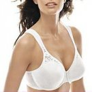 PLAYTEX SECRETS SEAMLESS BRA #4415 Full Coverage Underwire 36DD WHITE