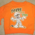 "NEW Infant HALLOWEEN SWEATSHIRT Mummy Top 18 Months ""Scare You Later"" ORANGE"