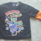 "Toddler HALLOWEEN T-SHIRT ""Monster In Training"" Layered Top SIZE 3T BLACK"