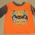 Infant HALLOWEEN TOP Long Sleeve T-Shirt 24 Months BLACK/ORANGE