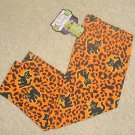 Infant HALLOWEEN LEGGINGS Stretch Cat Print Pants 12 MONTHS
