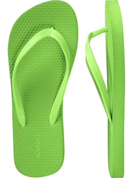NEW LADIES Old Navy FLIP FLOPS Thong Sandals SIZE 11 LIME GREEN Shoes