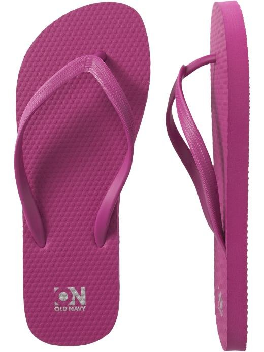 NEW LADIES Old Navy FLIP FLOPS Thong Sandals SIZE 8 FUCSHIA PINK Shoes