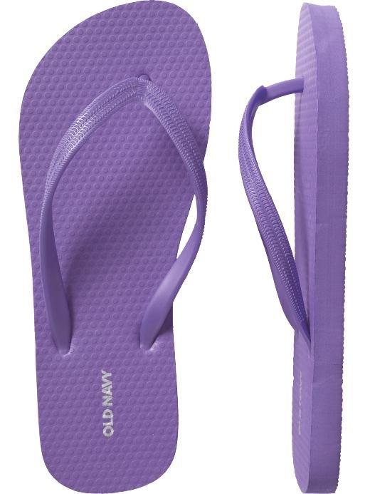 NEW Old Navy FLIP FLOPS Ladies Sandals SIZE 8 LAVENDER Shoes