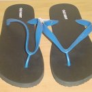 NEW MENS Old Navy FLIP FLOPS Sandals SIZE 10-11 BLUE/BLACK Shoes