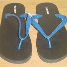 NEW MENS Old Navy FLIP FLOPS Sandals SIZE 10-11 BLUE/BLACK Shoes