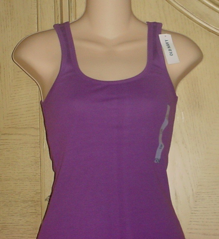 NWT Old Navy PERFECT TANK TOP Tee LARGE 12/14 PURPLE Cotton