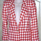 LADIES Liz Claiborne BLAZER Suit Jacket SIZE 2 PETITE Red/Cream