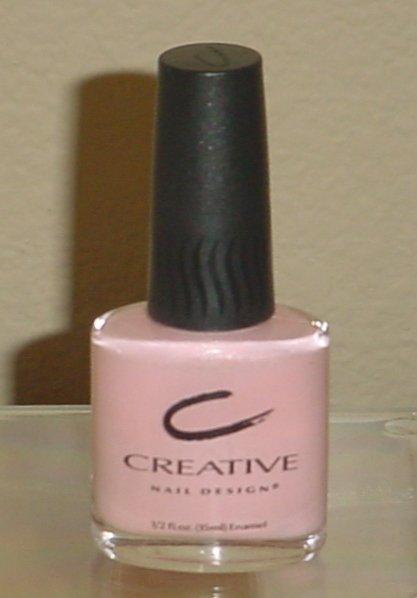 CREATIVE NAIL DESIGN POLISH #281 Pink Lemonade Color FULL SIZE 1/2 oz Creme Nail Lacquer