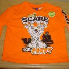 Infant HALLOWEEN T-SHIRT Glow In Dark Top 24 MONTHS Orange Cotton