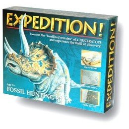 New/Sealed EXPEDITION DINOSAUR FOSSIL HUNTING KIT Triceratops Kids Educational Toy