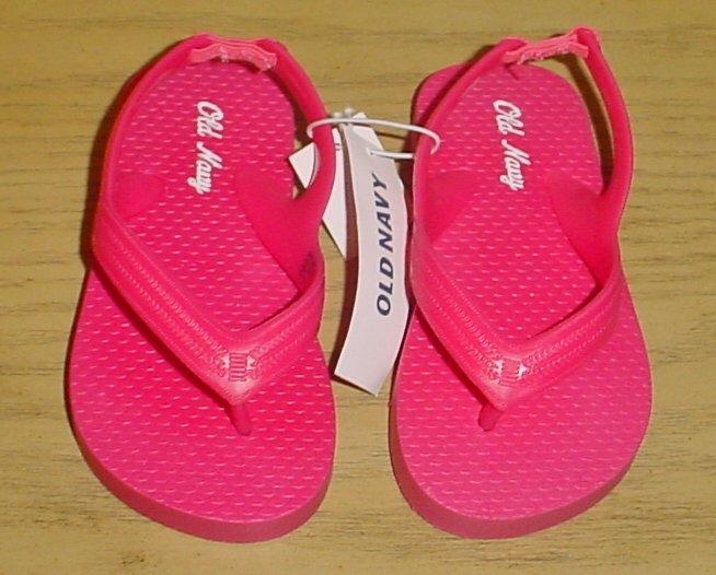 New TODDLER Old Navy FLIP FLOPS Thong Sandals SIZE 6 HOT PINK Shoes