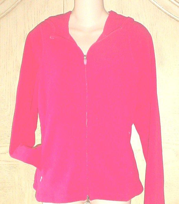 Ladies  PROSPIRIT HOODIE Athletic Jacket LARGE 12/14 Bright Pink