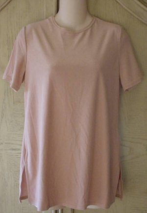Kathy Lee TUNIC TOP Stretch Knit Blouse SMALL 4/6 CAMEL TAN