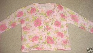 New TODDLER SWEATER SET Jillian's Closet Twinset 3T PINK FLORAL Cardigan and Shell