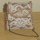 MINI VICTORIAN PURSE Evening handbag BRONZE Satin and Lace