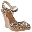 NEW Womens CHEETAH WEDGE SANDALS Old Navy Platform Wood Heels 10M Shoes