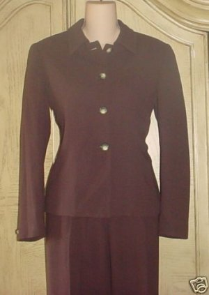 Ladies CROPPED BLAZER Clifford&Wills Suit Jacket 4P BROWN Fully Lined