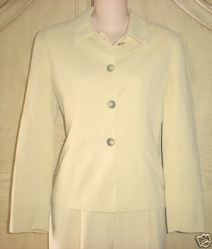 Ladies CROPPED BLAZER Clifford&amp;Wills Suit Jacket 4P GOLDEN TAN Fully Lined
