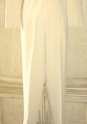 Ladies TAPERED PANTS Clifford&Wills Dress Slacks SIZE 4 GOLDEN TAN Lined Crepe