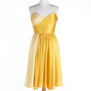 Betsey Johnson DRESS Sunny Sweetheart SIZE 2 YELLOW OMBRE Cocktail Evening Occasion SILK