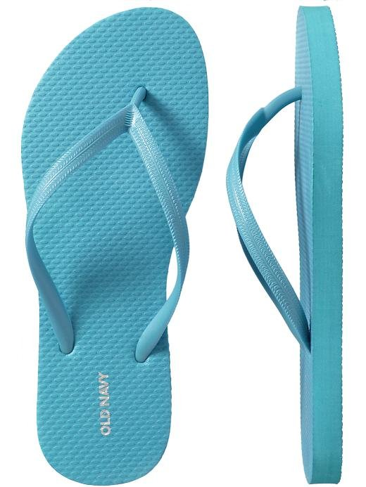 NEW Old Navy FLIP FLOPS Ladies Thong Sandals SIZE 11 AQUA BLUE Shoes