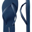 NEW Ladies Old Navy FLIP FLOPS Classic Sandals SIZE 9 NAVY BLUE Shoes pool beach