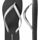 NEW Ladies FLIP FLOPS Old Navy Sandals SIZE 8 BLACK/WHITE Shoes
