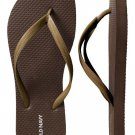 New METALLIC FLIP FLOPS Ladies Old Navy Thong Sandals 10M BRONZE Shoes NEW