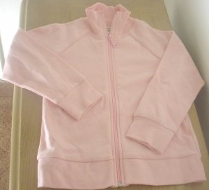 NEW Girls SWEATSHIRT JACKET Cherokee Zip Front with Pockets XL 14/16 PINK Cotton